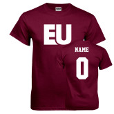 Maroon T Shirt-EU, Custom Tee w/ Name and #
