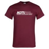 Maroon T Shirt-AGTS Non Formal No Shield