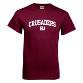 Maroon T Shirt-Arched Crusaders