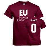Maroon T Shirt-Primary Mark, Custom Tee w/ Name and #