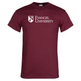 Maroon T Shirt-Evangel University Stacked