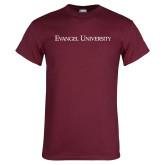 Maroon T Shirt-Flat Wordmark