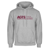 Grey Fleece Hoodie-AGTS Non Formal No Shield