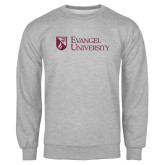 Grey Fleece Crew-Evangel University Stacked