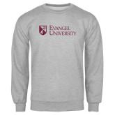 Grey Fleece Crew-Evangel University Stacked