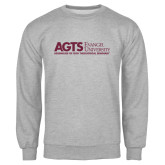 Grey Fleece Crew-AGTS Non Formal No Shield