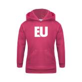 Youth Raspberry Fleece Hoodie-EU