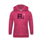 Youth Raspberry Fleece Hoodie-EU Foil