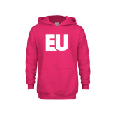 Youth Raspberry Fleece Hoodie-EU