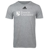 Adidas Sport Grey Logo T Shirt-Evangel University Stacked