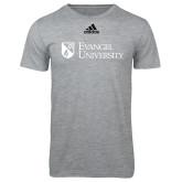 Adidas Sport Grey Logo T Shirt-Evangel University Stacked