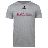 Adidas Sport Grey Logo T Shirt-AGTS Non Formal No Shield