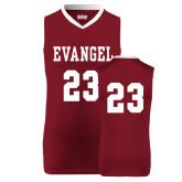 Replica Maroon Adult Basketball Jersey-#23
