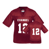 Youth Replica Maroon Football Jersey-#12