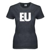 Ladies Dark Heather T Shirt-EU Distressed