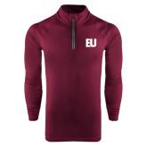 Under Armour Maroon Tech 1/4 Zip Performance Shirt-EU