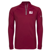 Under Armour Maroon Tech 1/4 Zip Performance Shirt-EU
