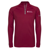 Under Armour Maroon Tech 1/4 Zip Performance Shirt-Evangel University Stacked
