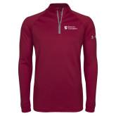 Under Armour Maroon Tech 1/4 Zip Performance Shirt-Evangel University Stacked