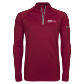 Under Armour Maroon Tech 1/4 Zip Performance Shirt-AGTS Non Formal No Shield