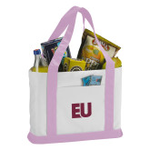 Contender White/Pink Canvas Tote-EU