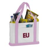 Contender White/Pink Canvas Tote-EU
