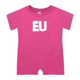 Bubble Gum Pink Infant Romper-EU