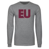 Grey Long Sleeve T Shirt-EU