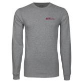 Grey Long Sleeve T Shirt-AGTS Non Formal No Shield