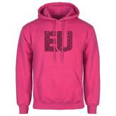 Fuchsia Fleece Hoodie-EU Hot Pink Glitter