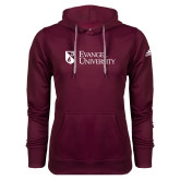Adidas Climawarm Maroon Team Issue Hoodie-Evangel University Stacked