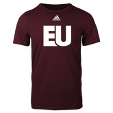 Adidas Maroon Logo T Shirt-EU