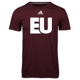 Adidas Climalite Maroon Ultimate Performance Tee-EU