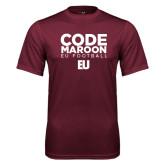 Performance Maroon Tee-Code Maroon