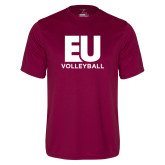 Performance Maroon Tee-Volleyball