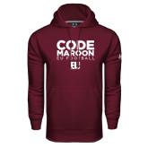 Under Armour Maroon Performance Sweats Team Hoodie-Code Maroon