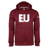 Under Armour Maroon Performance Sweats Team Hoodie-EU