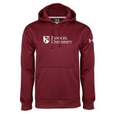 Under Armour Maroon Performance Sweats Team Hoodie-Evangel University Stacked