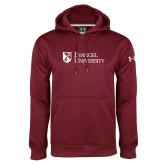 Under Armour Maroon Performance Sweats Team Hoodie-Evangel University Stacked