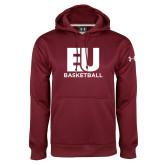 Under Armour Maroon Performance Sweats Team Hoodie-Basketball