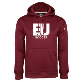 Under Armour Maroon Performance Sweats Team Hoodie-Soccer