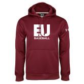 Under Armour Maroon Performance Sweats Team Hoodie-Baseball
