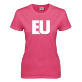 Ladies Fuchsia T Shirt-EU