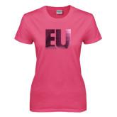 Ladies Fuchsia T Shirt-EU Foil