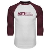 White/Maroon Raglan Baseball T Shirt-AGTS Non Formal No Shield