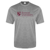 Performance Grey Heather Contender Tee-Evangel University - Tagline