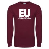 Maroon Long Sleeve T Shirt-Grandpa