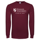 Maroon Long Sleeve T Shirt-Class of… Personalized Year, Personalized year