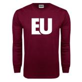 Maroon Long Sleeve T Shirt-EU