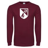Maroon Long Sleeve T Shirt-Shield